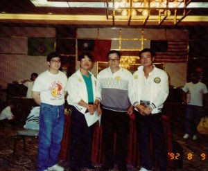 From left to right: Paul Sun, Ho Tsong-Yaun, Steve Sun, Zhang FuChen